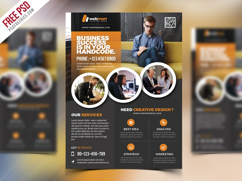 freebie corporate flyer template free psd template print multipurpose flyer free psd free flyer free