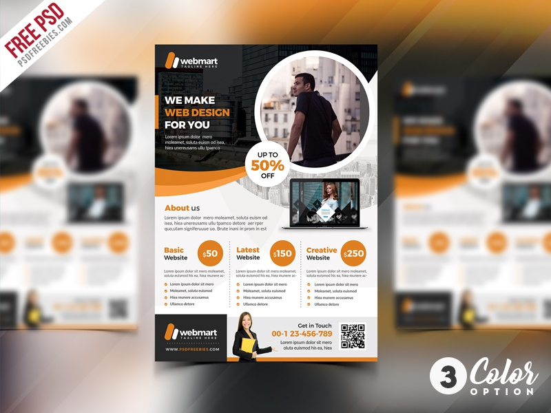 free corporate flyer psd template set by psd freebies dribbble