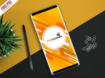 Freebie : Galaxy Note 8 Mockup Free PSD