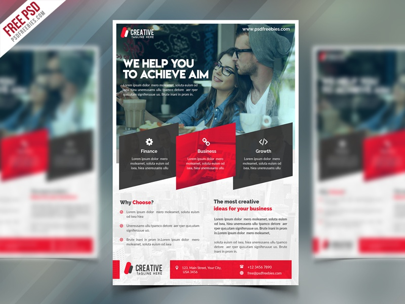 freebie corporate flyer free psd template by psd freebies