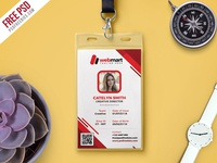 Free Photo Identity Card PSD Template