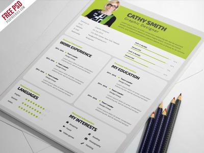 Freebie : Designer Resume Template Free PSD