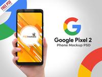 Freebie : Google Pixel 2 Phone PSD Mockup