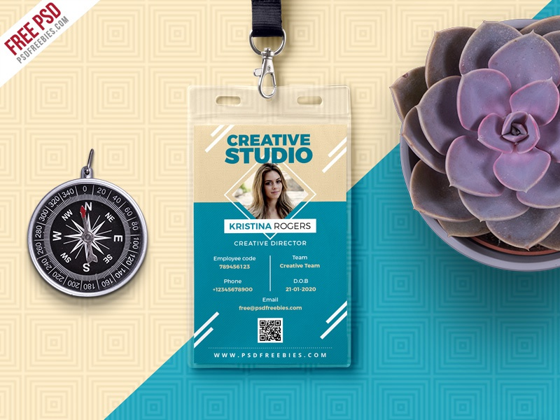 Office photo identity card free psd by psd freebies on dribbble.