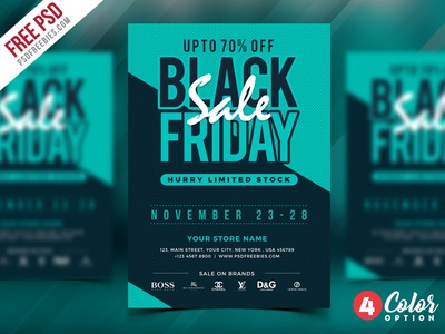 Free Black Friday Sale Flyer PSD