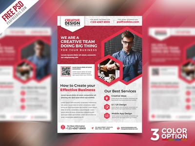 Free Business Promotional Flyer PSD Bundle