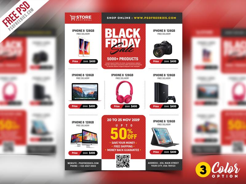 black friday sale flyer psd bundle by psd freebies dribbble dribbble