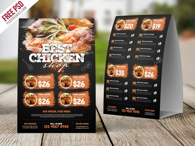 Restaurant Tent Card Food Menu Free Psd price menu menu template fast food cafe menu restaurant menu psd template table tent tent card food menu freebie psd free psd