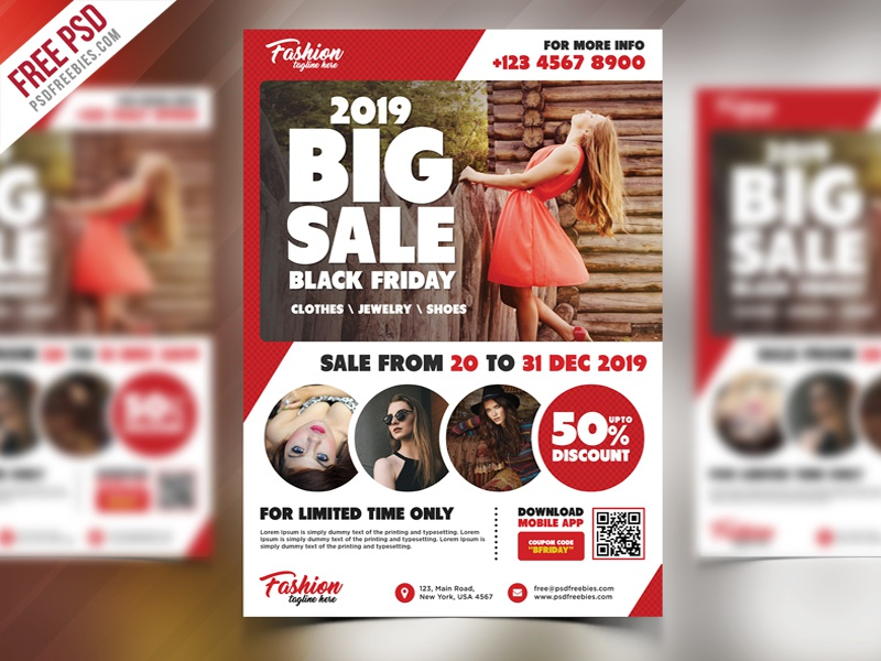free sale promotional flyer psd by psd freebies dribbble dribbble