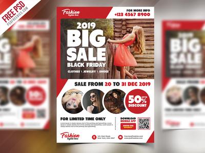 Free Sale Promotional Flyer PSD