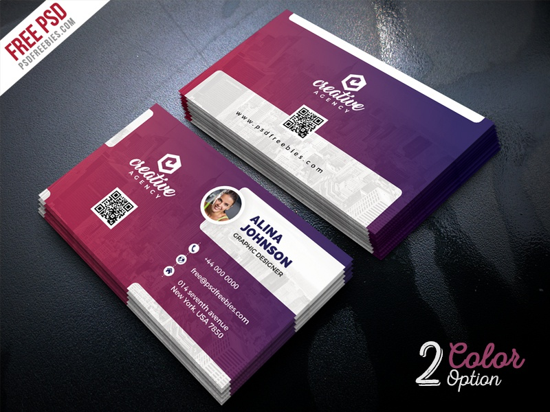 creative business card template psd set by psd freebies