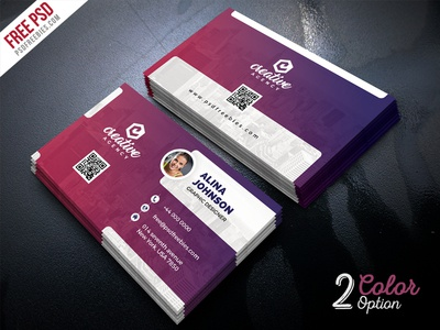 Creative Business Card Template PSD Set By PSD Freebies Dribbble - Business card templates psd
