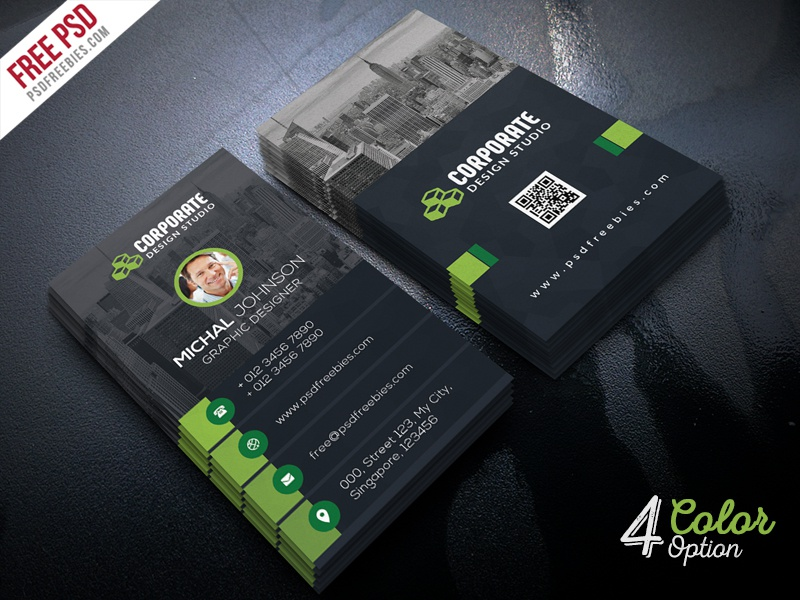 corporate business card template psd bundle by psd freebies dribbble. Black Bedroom Furniture Sets. Home Design Ideas