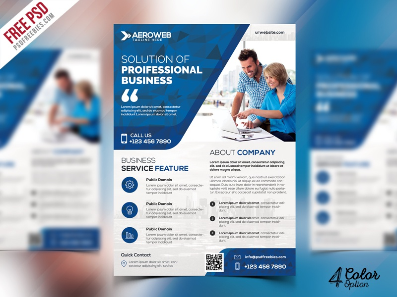 corporate flyers free psd bundle by psd freebies
