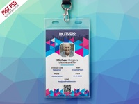 Abstract Office ID Card Free PSD