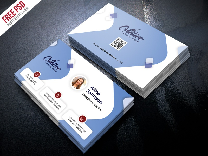 Clean business card design free psd by psd freebies dribbble clean business card design free psd reheart