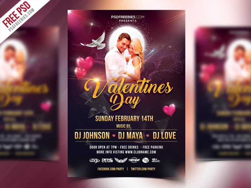 Valentines Day Flyer Design Free PSD red flyer love day 14feb love psd flyer flyer event psdfreebies freebie free psd valentines day valentines