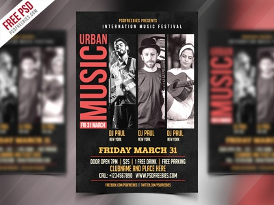 Music Event Flyer Free Psd Template By Psd Freebies Dribbble