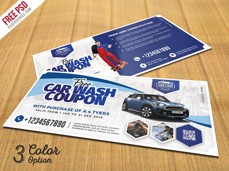 Car wash coupon template psd set by psd freebies dribbble for Car wash coupon template