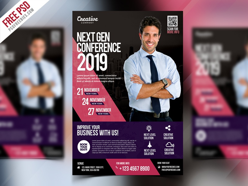 business event seminar flyer psd by psd freebies dribbble dribbble