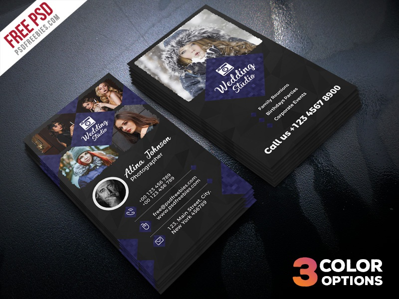 Photographer Business Card Template Psd Set Free Design Visitng Photography Photo
