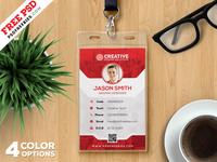 Office Identity Card Template PSD Set