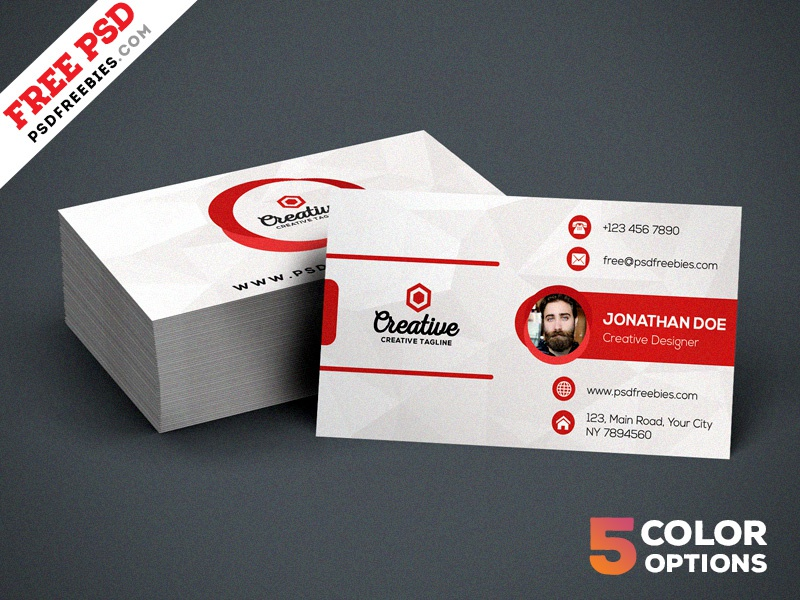 Creative Business Card PSD Bundle by PSD Freebies - Dribbble