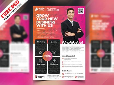 Multipurpose Corporate Flyer Design Free PSD