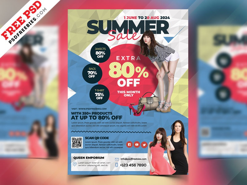 Fashion Sale Flyer Template PSD By PSD Freebies Dribbble - Sales flyer template photoshop