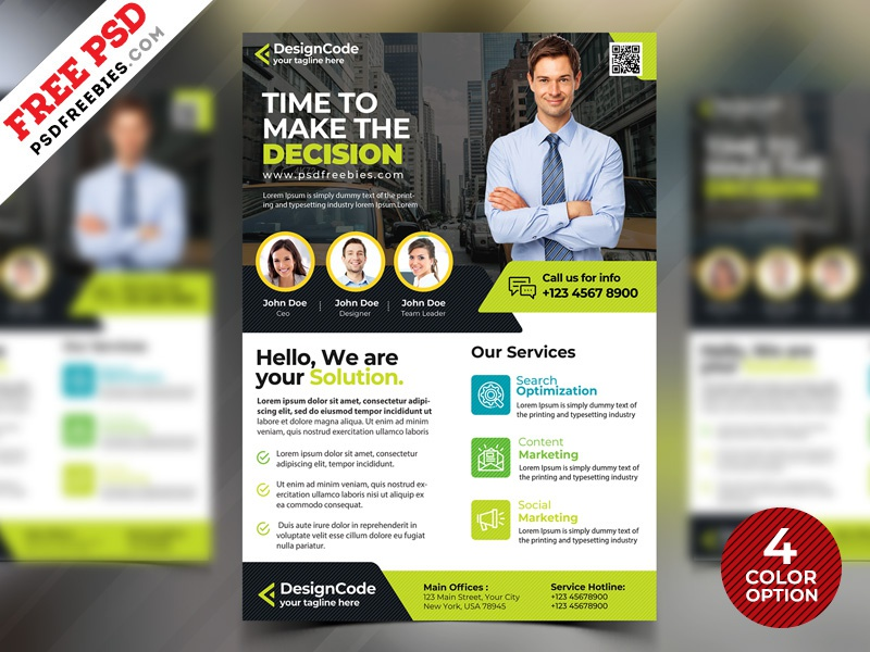 corporate flyer design templates free psd by psd freebies dribbble
