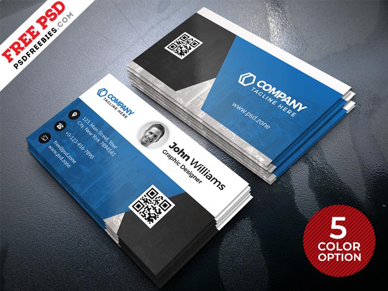 Creative business card design psd set by psd freebies for Design online
