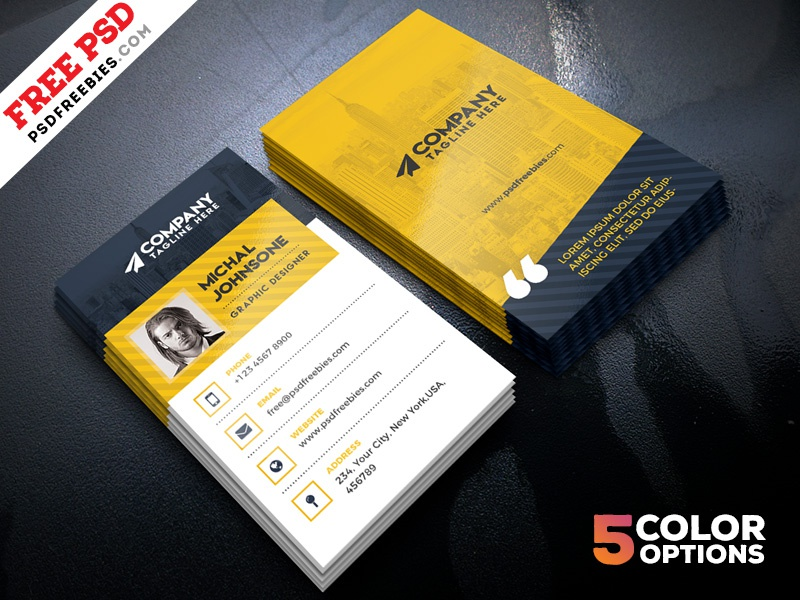 Corporate Business Cards Design Free PSD by PSD Freebies - Dribbble