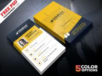 Corporate Business Cards Design Free PSD