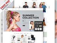Fashion E-commerce Website Home Page PSD