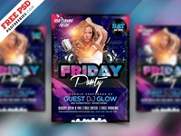 Night Club Party Flyer Design PSD Freebie