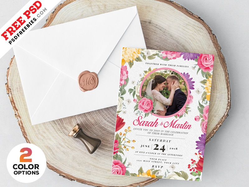Wedding Invitation Card Design Psd By Psd Freebies On Dribbble
