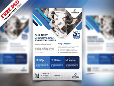 Corporate Business Flyer Template Psd By Psd Freebies Dribbble