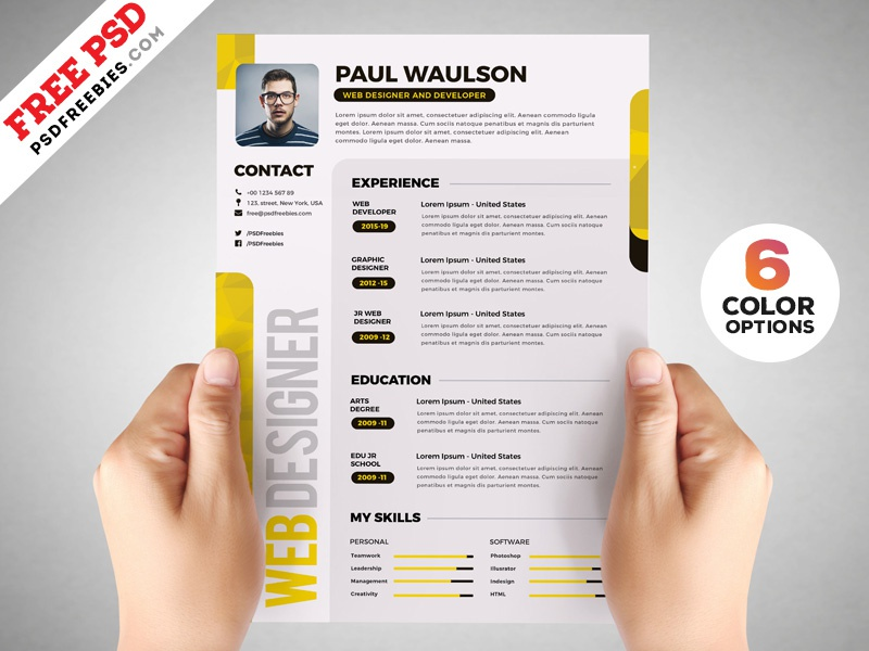 designer resume template psd set by psd freebies on dribbble