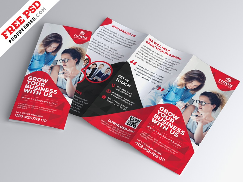 Business Tri Fold Brochure Template Design Psd By Psd Freebies