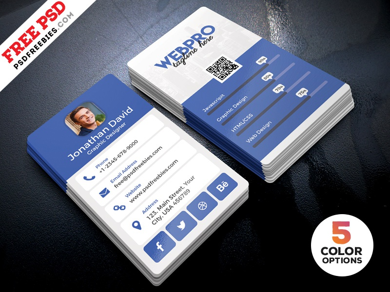 Vertical business card template psd bundle by psd freebies dribbble vertical business card template psd bundle wajeb Image collections
