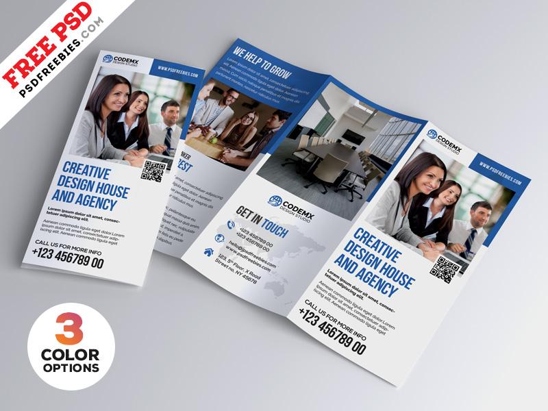 professional a4 tri fold brochure psd bundle by psd freebies