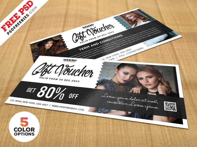 gift voucher design free psd bundle by psd freebies dribbble
