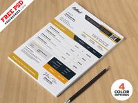 Business Invoice Design Template PSD