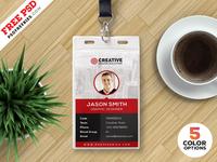 Office Identity Card Design PSD