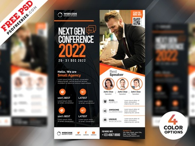 Conference Promotion Flyer Design PSD