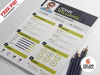 Clean Resume Design PSD Template Bundle