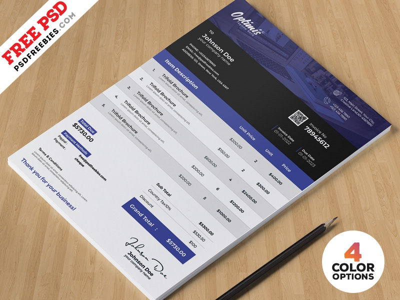 a4 invoice design template psd bundle invoice design invoice price free psd print page template photoshop
