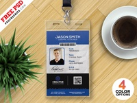 Free PSD : Office ID Card Design PSD Set