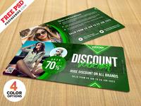 Free PSD : Apparel Discount Coupon PSD Set