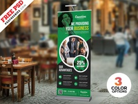 Roll-up Banner Design Free PSD Set